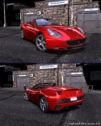 "GTA 4 ""Ferrari California from NfS Shift DLC"""