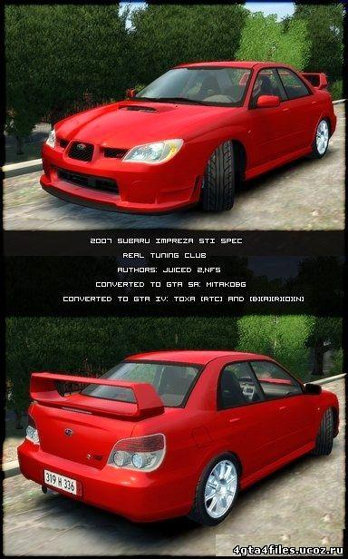 """GTA 4 """"Subaru WRX STI Spec C Type RA-R"""""""