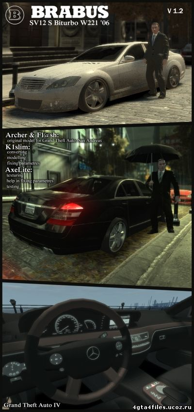"GTA 4 ""Mersedes BRABUS W12 Long"""