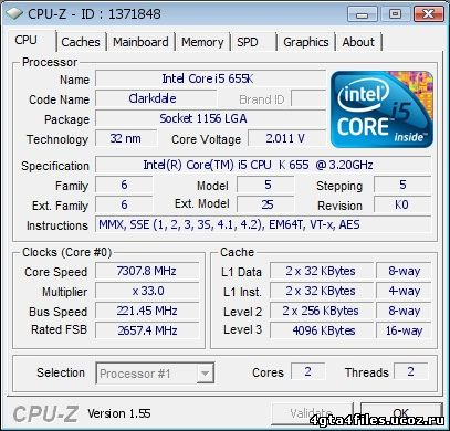 Новый рубеж: Core i5-655K покорил 7,3 ГГц